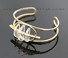 Modernist 12K Gold Plated and Lucite Bracelet