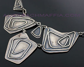 Ramona Solberg Modernist Silver Necklace Seattle 1950