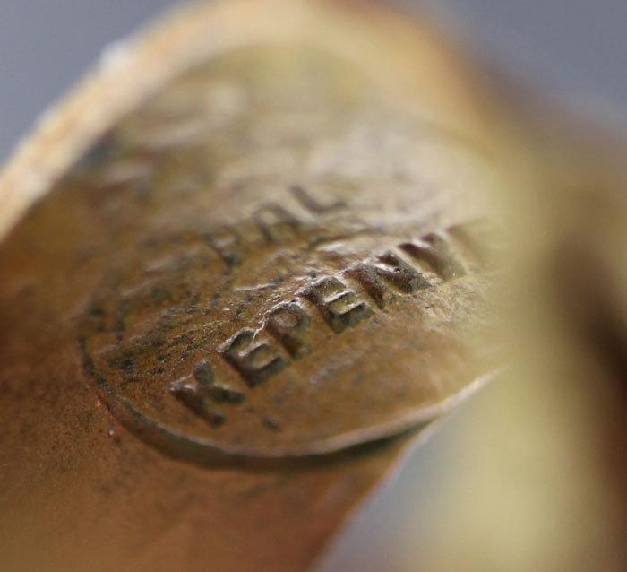 Pal Kepenyes Modernist Brass/Bronze Ring Erotica