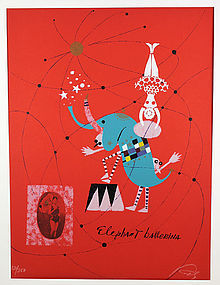 Wolfgang Roth Modernist Lithograph Circus Theater