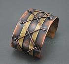 Winifred Mason Modernist Copper/Brass Bracelet Chenet