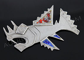 Laffi Modernist Sterling Silver Fish Brooch - Peru