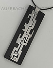 Modernist Sterling and Ebony Abstract Figural Pendant