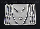 Rebajes Sterling Silver Deco Mask Brooch - 1940's