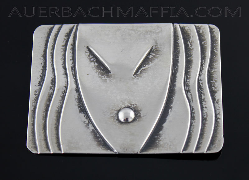 Rebajes Sterling Silver Deco Mask Brooch - 1940's