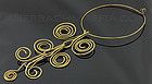 Modernist Handcrafted Brass Kinetic Necklace