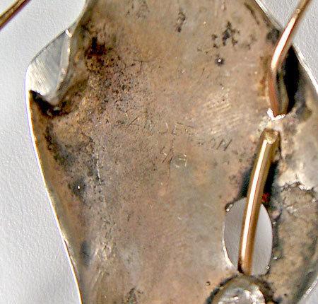 Wiley Sanderson Modernist Sterling/14k Brooch Cranbrook