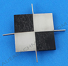 Betty Cooke Modernist Sterling and Ebony Brooch 1950