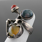 Peter Broome Modernist Sterling Ring California