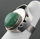 Peter Ein-Hod Modernist Sterling Ring Israel