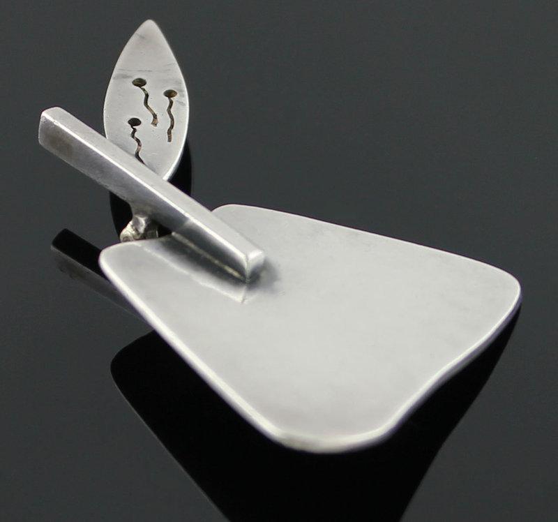 Janiye Modernist Sterling Silver Brooch Japan Boston