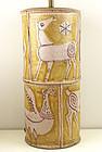 Guido Gambone Modernist Ceramic Lamp Italy 1950