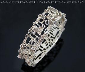 Industria Argentina Modernist Silver Bracelet