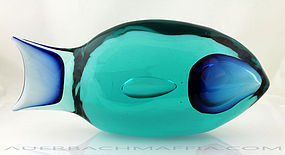 Tosi Murano Art Glass Fish for Cenedese Italy