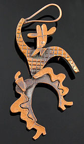 Rebajes Kinetic Cowboy Brooch in Copper 1950