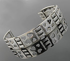 Danish Sterling Modernist Heart Bracelet - Munksgaard