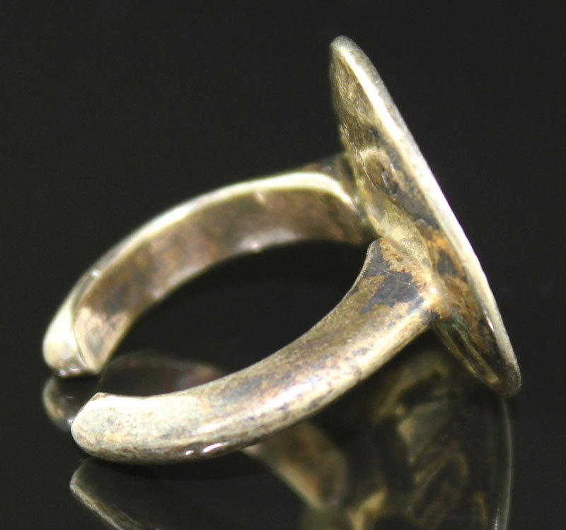 Zolotas Sterling Silver Ring Greece 20th Century Ancient Motif