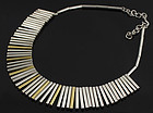 Puig Doria Modernist Sterling Necklace Spain