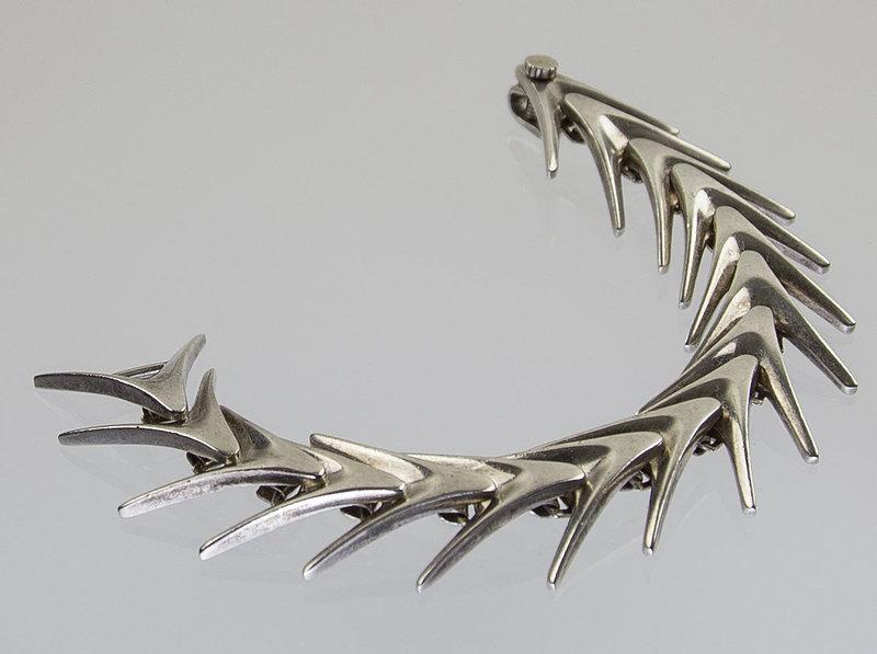 Poul Warmind Modernist Sterling Bracelet - Denmark 1950