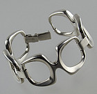 Wilhelm Binder Modernist Sterling Silver Bracelet - Germany