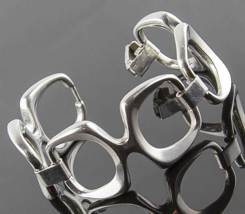 Wilhelm Binder Modernist Sterling Silver Bracelet - Germany