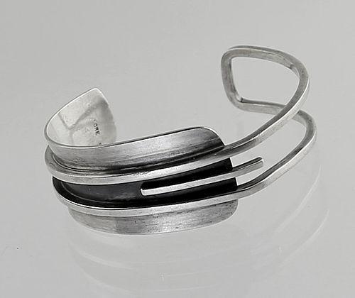 LORE Modernist Sterling Silver Bracelet - 1950