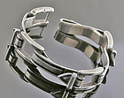 Antonio Fallaci Modernist Sterling Buckle Bracelet - Italy