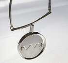Soren Borup Modernist Sterling Necklace - Denmark - 1960 - 1970