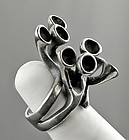 Stinn Modernist Sterling Ring