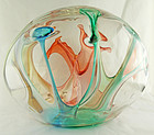 Peter Bramhall Large Art Glass Sphere Post Modernist