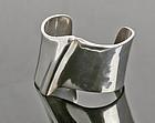 Brusca - Dante Modernist Sterling Wave Cuff Bracelet