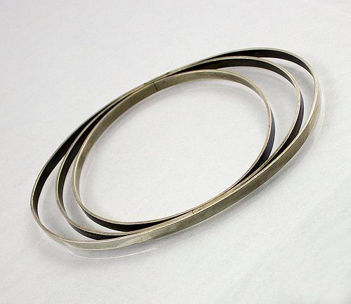 Betty Cooke Modernist Sterling Silver Orbital Bracelet