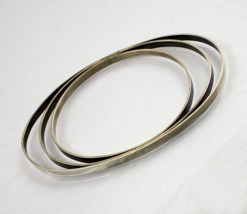 Betty Cooke Modernist Sterling Silver Orbital Bracelet