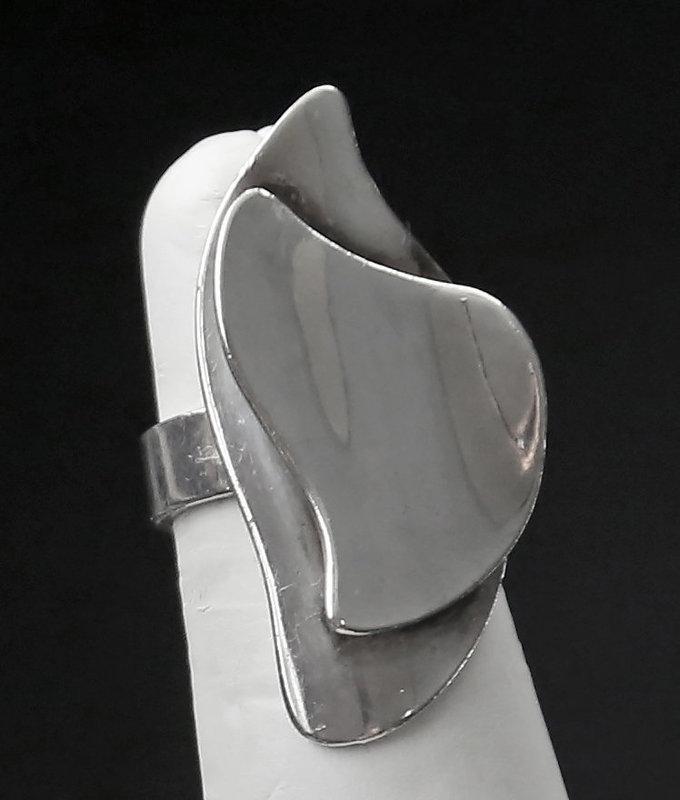 Henry Steig Modernist Sterling Ring Mid Century Modern