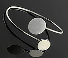 Betty Cooke Modernist Sterling Double Disk Bracelet