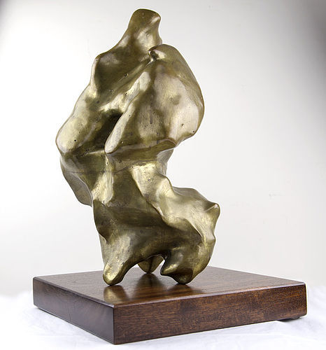 Luis Lopez Loza Bronze Modernist Abstract Sculpture
