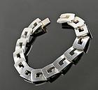 Vintage Gucci Sterling Silver Link Bracelet Italy Modernist