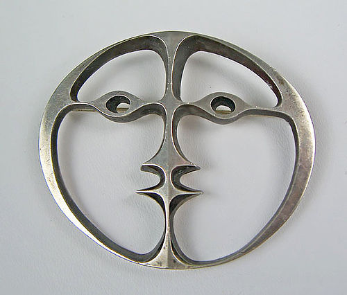 John Prip Modernist Sterling Brooch  Mid 20th Century