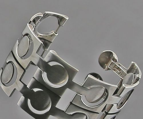 Industria Argentina Modernist Sterling Bracelet - Mid 20th Century