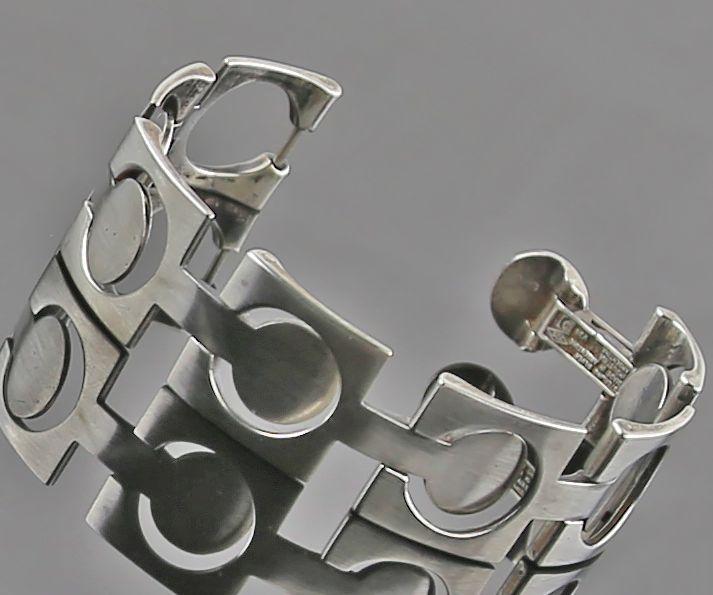 Industria Argentina Modernist Sterling Bracelet - Mid 20th Century