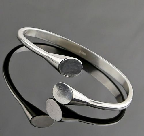 Franz Scheurle Modernist Sterling Bracelet - Germany 1960's
