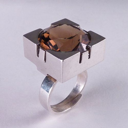Matti J. Hyvarinen for Sirokoru Modernist Sterling Ring Finland