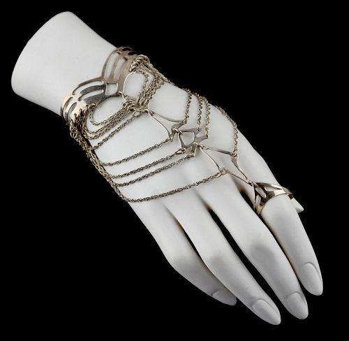 Mary Ann Scherr Modernist Sterling Slave Bracelet