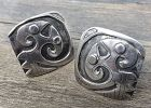 Graziella Laffia Modernist Ethnic Sterling cuff Links 1950 Peru