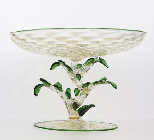 Murano Floral Compote - Early 20th Century Italy