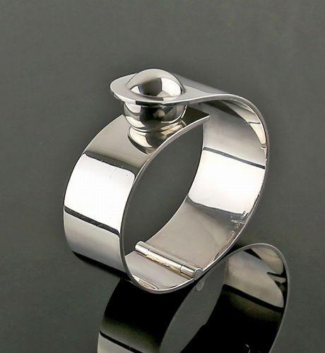 Puig Doria Modernist Sterling Silver Bracelet - Spain