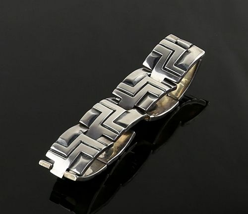 Patino Mexican Architectural Sterling Bracelet Mid Century