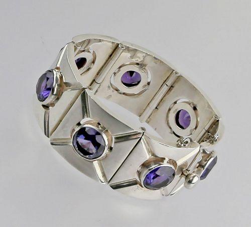 Vintage Mexican Sterling Bracelet - Artist Marked