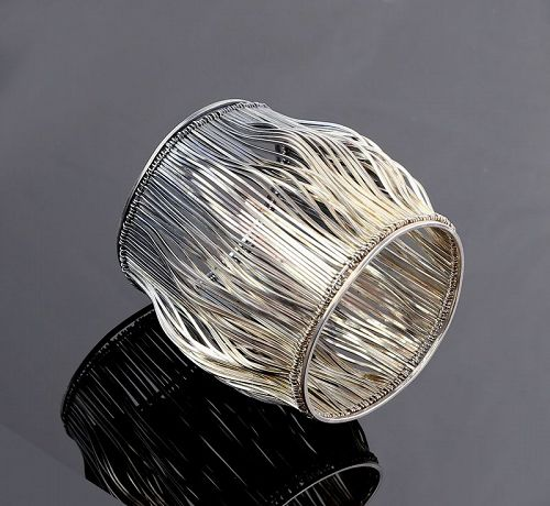 Paul Lobel Modernist Sterling Silver Cuff Bracelet 1950s