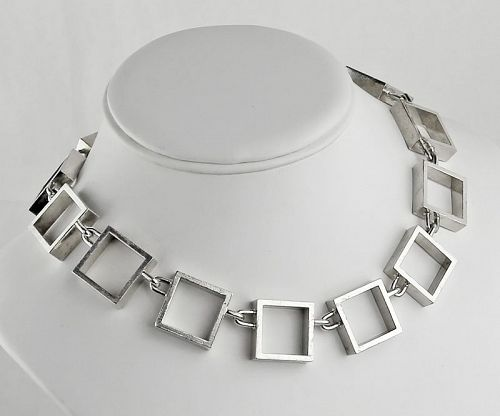 Hans Hansen Modernist Sterling Necklace Denmark